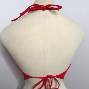 Fashion Magazine Tops - Red Handkerchief Halter Top